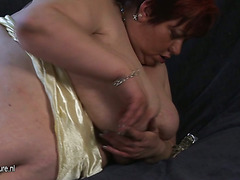 Large Malinka gets herself mushy and horny