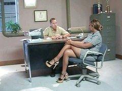Ebony MILF fucked in the office