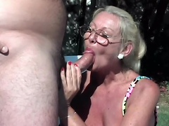 Cast your inhibitions aside, coz this wild, shameless whore granny...