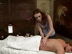 Horny dude gets more than a massage from Zoe Voss