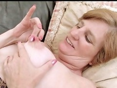 Ray Lynn vigour pumps her hirsute granny bawdy cleft with a toy