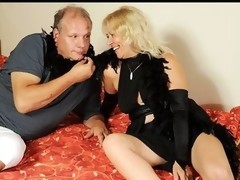 Dick loving granny gives a serious blow job