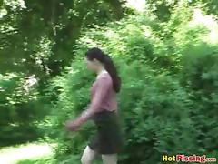 Outdoor pee excitement