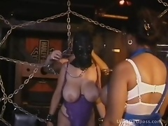 Brunette MILF With Big Natural Boobs Gets Tied Up and Tortured