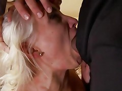 Naughty Lexi Swallow gobbles down this hard prick